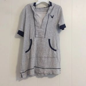 Other - Gray Short-Sleeved Hoodie Kids 9-10